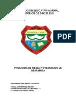 proyecto prevencion riesgo 20  de enero 2014