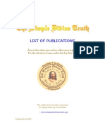 List of The Simple Divine Truth Publications