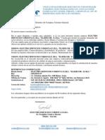 Carta de Presentacion a Cliente - 2013