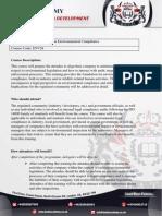 Short Course on Environmental Compliance
