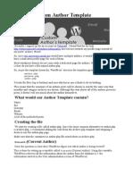 Create a Custom Author Template