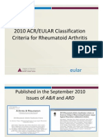 ACR/EULAR 2010 Classification Criteria Rheumatoid Artritis