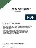 Que Es Computación