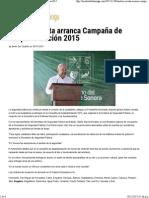 30-11-15 Maloro Acosta arranca campaña de despistolización 2015