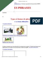 Grand Bilan Sur Les Phrases - Cours