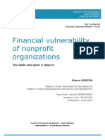 Financial Vulnerability of Nonprofit Organizations