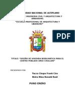 Vivienda Bioclimatica Centro Chulluni