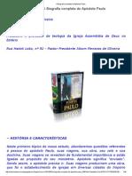 A Biografia Completa Do Apóstolo Paulo