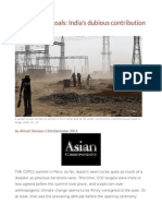 Coals Before Goals India's Dubious Contribution to the COP21