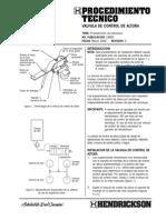 Valvula de Control de Altura Procedimiento de Instalacion