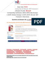 [FREE]http://events.e-med.co.il/?exam=70-494-dumps&collection= Latest 70-516 PDF 100% Pass Guaranteed 41-50