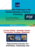 Sustainable Pathways in the Vocationalization of Senior Schooling