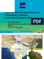Implementing Vocational Courses in Secondary Schools in Himachal Pradesh India
