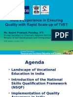 India's Experience in Ensuring Quality with Rapid Scale-up of TVET