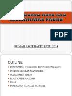 Presentasi Panitia Mutu (PMKP) 21 Mei 2014