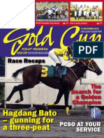 PCSO 43rd Gold Cup 2015 Souvenir Magazine