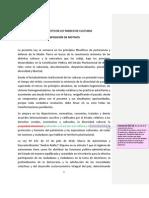 ANTEPROYECTO LEY de CULTURAS Con Revisiones y Observaciones (Bolivia)