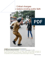 SRI LANKA Critical Changes Necessary to Restore Eroding Public Faith