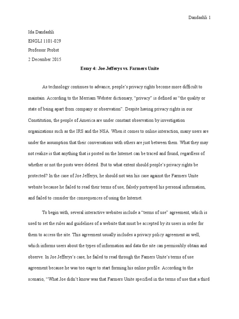 why is privacy important essay