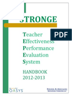 teacher effectiveness performance evaluation