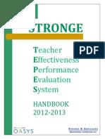 teacher effectiveness performance evaluation