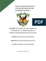 Resumen 1.- Caracteristicas Cualitativas y Cuantitativas