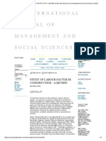 6-Study of Labour Factor in Construction _ a Review _ Dutta _ International Journal of Management and Social Sciences (Ijmss)