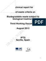 IPTS EoW Biodegradable Waste 3rd Working Document Wo Line Nr