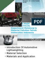 Tugas 10 Material Teknik _ Lighwight Material for Car
