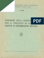 Istruzione sulla cassetta M.65 per Il prelievo di campioni sospetti di contaminazione biologica (5658) 1967