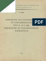 Istruzione sull'intensimetro di contaminazione tipo R.40 E Mil. misuratore di contaminazione radioattiva (5618) 1965