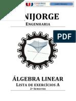 Álgebra Linear - Lista de Exercícios a 2015.1