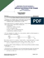 2014 Chimie Nationala Clasa a Ixa Proba Teoretica Subiectebarem