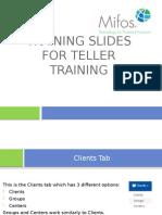 Teller Training
