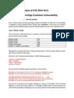 Analysis of CVE-2014-4113