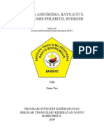 askep aneurisma, raynaud's, thrombophlebitis, buerger