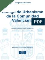 BOE-013 Codigo de Urbanismo de La Comunidad Valenciana