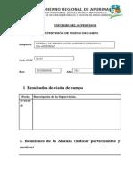 Informe de Supervision Visita Campo