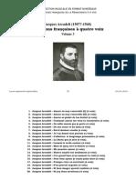 Chansons françaises à quatre voix [3] / Jacques Arcadelt