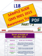 PPT Presentation on ISO 9001:2015 Training