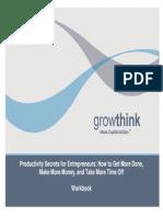 Growthinks Productivity Secrets for Entrepreneurs