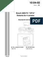 100402e1 Abs Tc Bosch Averias y Descripcion