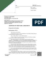 Final draft Paris climate agreement