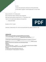 Registration of Partnership Firm