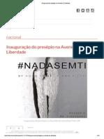 #NADASEMTI  LUX Magazine (PT)