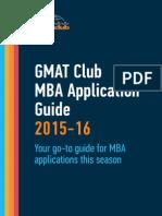 GMATClub MBA Application Guide 2015