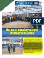 Líderes de Huarón pusieron las manos en la obra - Eusterio Huerta León