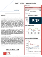 Equity Valuation Report – Jerónimo MArtins