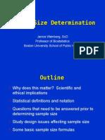 Sample Size Determination 03202012