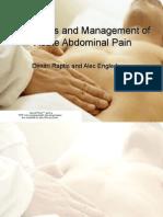 diagnosisandmanagementofacuteabdominalpain-090324141912-phpapp02